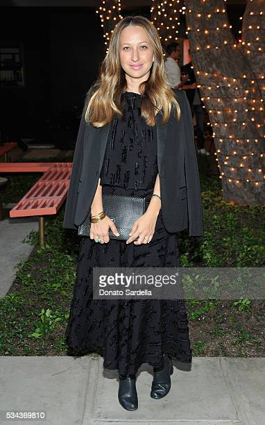 Host Jennifer Meyer attends the launch of EB Florals By Eric Buterbaugh with Saks Fifth Avenue on May 25 2016 in Los Angeles California