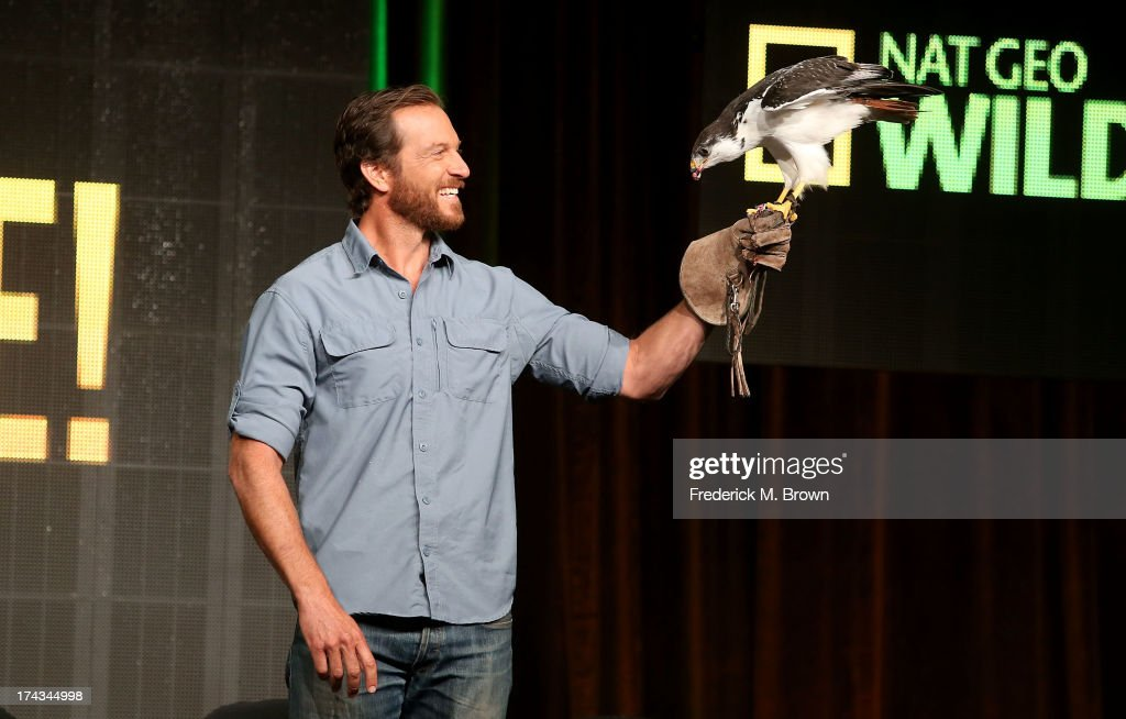 Host Jeremy Brandt speaks onstage during the Jobs That Bite panel at the National Geographic Channels portion of the 2013 Summer Television Critics Association tour at the Beverly Hilton Hotel on July 24, 2013 in Beverly Hills, California.