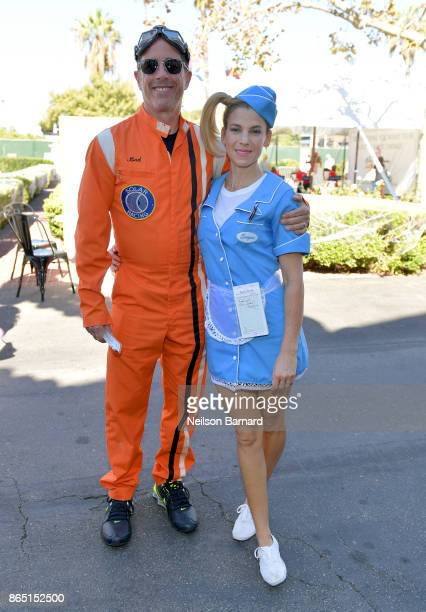 Host Jerry Seinfeld and GOOD founder Jessica Seinfeld attend the GOOD Foundation Halloween Bash presented by Beautycounter Delta Air Lines and...