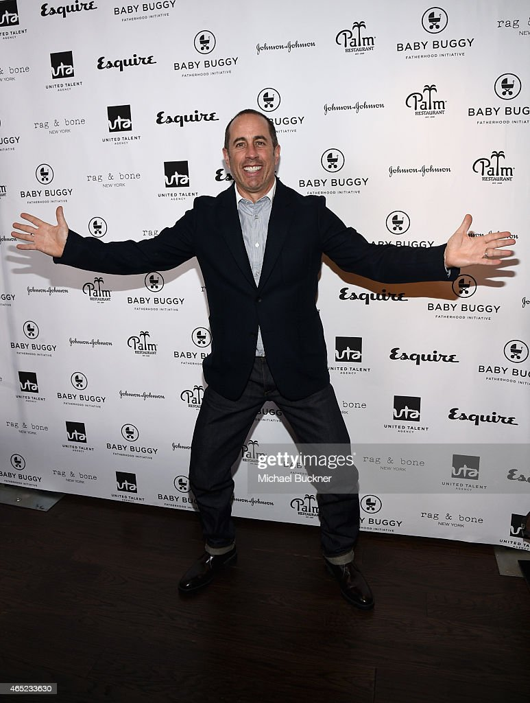 Host <a gi-track='captionPersonalityLinkClicked' href=/galleries/search?phrase=Jerry+Seinfeld&family=editorial&specificpeople=210541 ng-click='$event.stopPropagation()'>Jerry Seinfeld</a> attends the Inaugural Los Angeles Fatherhood Lunch to Benefit Baby Buggy hosted by <a gi-track='captionPersonalityLinkClicked' href=/galleries/search?phrase=Jerry+Seinfeld&family=editorial&specificpeople=210541 ng-click='$event.stopPropagation()'>Jerry Seinfeld</a> at The Palm Restaurant on March 4, 2015 in Beverly Hills, California.