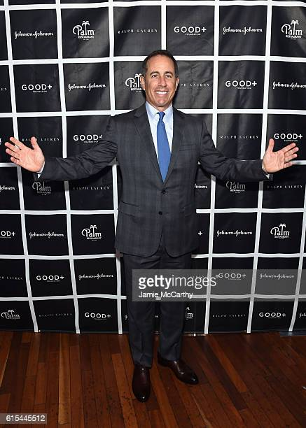 Host Jerry Seinfeld attends the New York Fatherhood Lunch to benefit GOOD Foundation on October 18 2016 in New York City