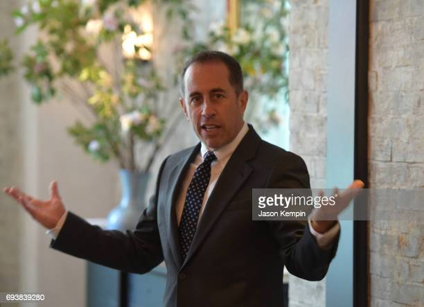 Host Jerry Seinfeld speaks at the GOOD Foundation MR PORTER Host Fatherhood Lunch With Jerry Seinfeld at Le Coucou on June 8 2017 in New York City