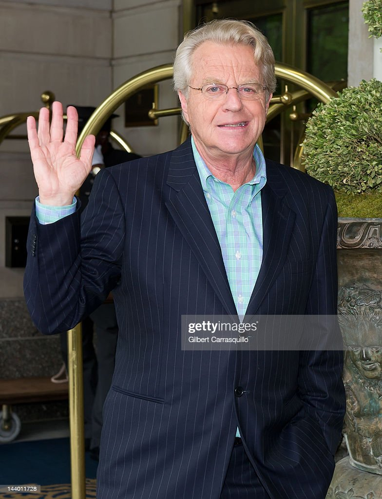 TV host <a gi-track='captionPersonalityLinkClicked' href=/galleries/search?phrase=Jerry+Springer&family=editorial&specificpeople=214761 ng-click='$event.stopPropagation()'>Jerry Springer</a> seen at the Ritz Carlton on May 7, 2012 in New York City.