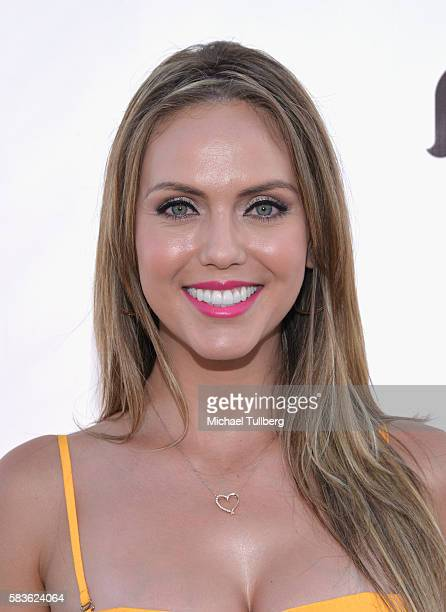 TV host Jessica Carrillo attends the first Olympics Soci@l Opening Ceremony in advance of NBC's coverage of the 2016 Rio Olympics at Jonathan Beach...