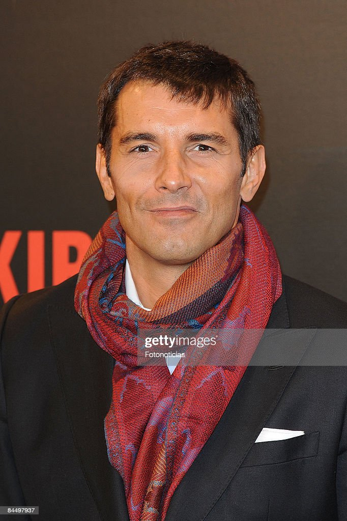 TV host Jesus Vazquez attends 'Valkyrie' premiere, at the Teatro Real on January 27, 2009 in Madrid, Spain.