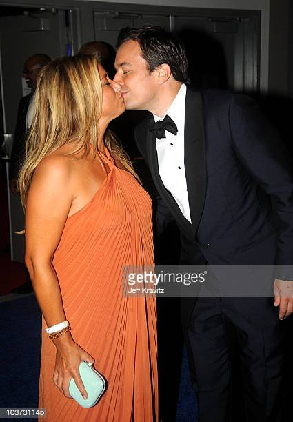 Host Jimmy Fallon and wife producer Nancy Juvonen attend the 62nd Annual Primetime Emmy Awards Governors Ball held at the Los Angeles Convention...