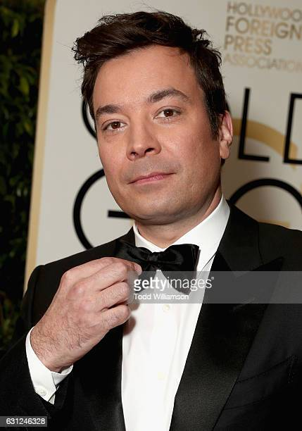 Host Jimmy Fallon attends the 74th Annual Golden Globe Awards at The Beverly Hilton Hotel on January 8 2017 in Beverly Hills California