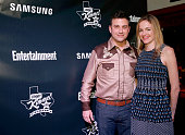 Host Jimmy Kimmel and writer Molly McNearney attend the Jimmy Kimmel Live and Entertainment Weekly party hosted by Samsung with Ketel One Vodka...