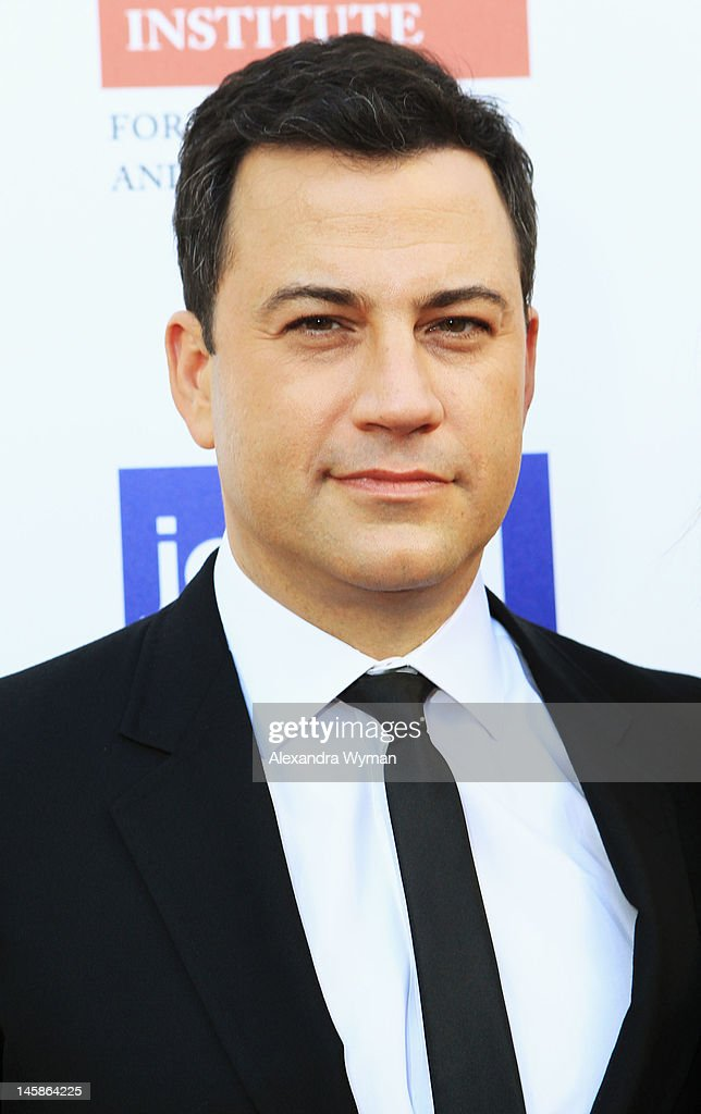 Host <a gi-track='captionPersonalityLinkClicked' href=/galleries/search?phrase=Jimmy+Kimmel&family=editorial&specificpeople=214115 ng-click='$event.stopPropagation()'>Jimmy Kimmel</a> arrives at the USC Shoah Foundation Institute Ambassadors for Humanity Gala held at the Grand Ballroom at Hollywood & Highland Center on June 6, 2012 in Hollywood, California.