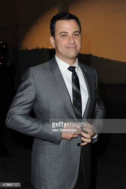 TV host Jimmy Kimmel attends the 2nd Annual Rebel With A Cause Gala cocktail reception at Paramount Studios on March 20 2014 in Hollywood California