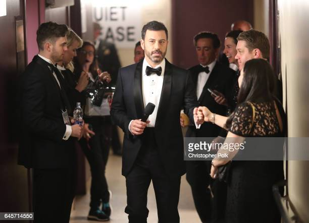 Host Jimmy Kimmel backstage during the 89th Annual Academy Awards at Hollywood Highland Center on February 26 2017 in Hollywood California
