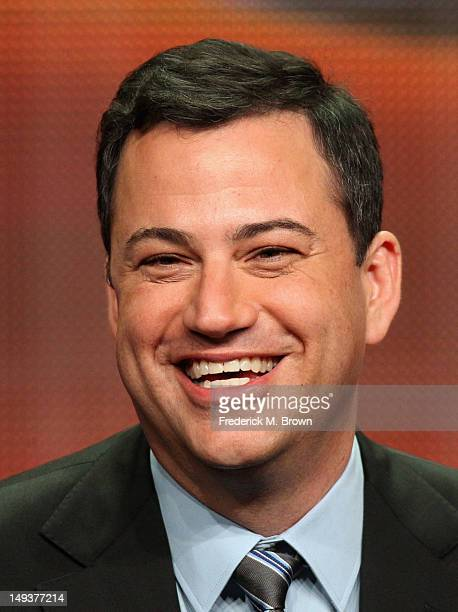 Host Jimmy Kimmel speaks onstage at the '64th Primetime Emmy Awards' panel during the Disney/ABC Television Group portion of the 2012 Summer TCA Tour...