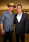 Host JJ Watt and actor Vince Vaughn attend the 2016 CMT Music awards at the Bridgestone Arena on June 8 2016 in Nashville Tennessee
