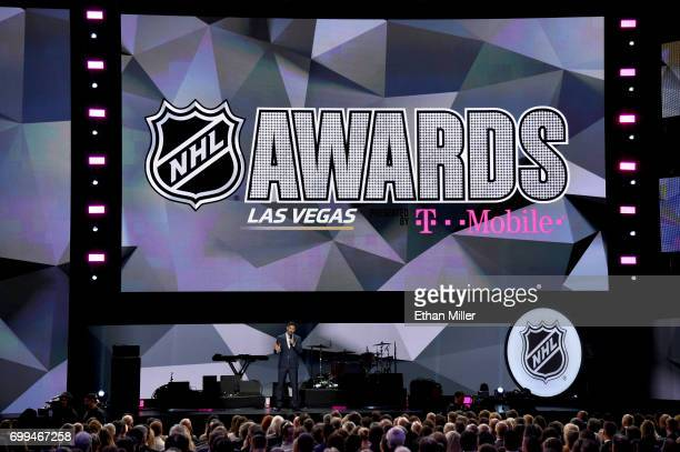 Host Joe Manganiello speaks during the 2017 NHL Awards and Expansion Draft at TMobile Arena on June 21 2017 in Las Vegas Nevada