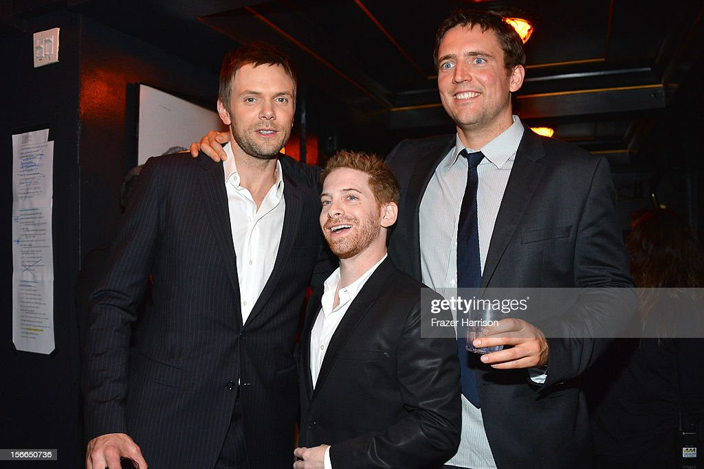 Host Joel McHale, actor Seth Green and comedian Owen Benjamin attend Variety's 3rd annual Power of Comedy event presented by Bing benefiting the Noreen Fraser Foundation held at Avalon on November 17, 2012 in Hollywood, California.