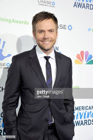 Host Joel McHale arrives at the American Giving Awards presented by Chase held at the Pasadena Civic Auditorium on December 7 2012 in Pasadena...