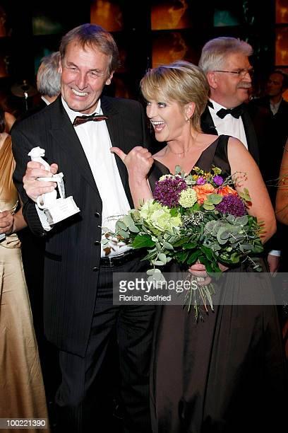 TV host Joerg Wontorra and Ulla Kock am Brinkattends the 'Bayerischer Fernsehpreis 2010' at the Prinzregententheater on May 21 2010 in Munich Germany