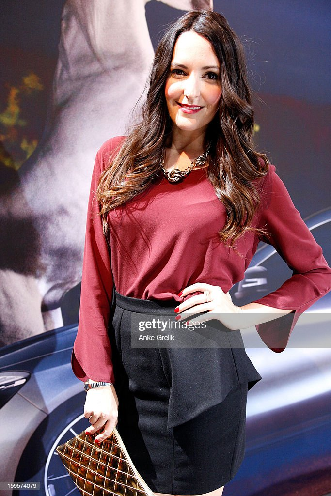 TV host Johanna Klum attends Mercedes-Benz Fashion Week Autumn/Winter 2013/14 at the Brandenburg Gate on January 16, 2013 in Berlin, Germany.