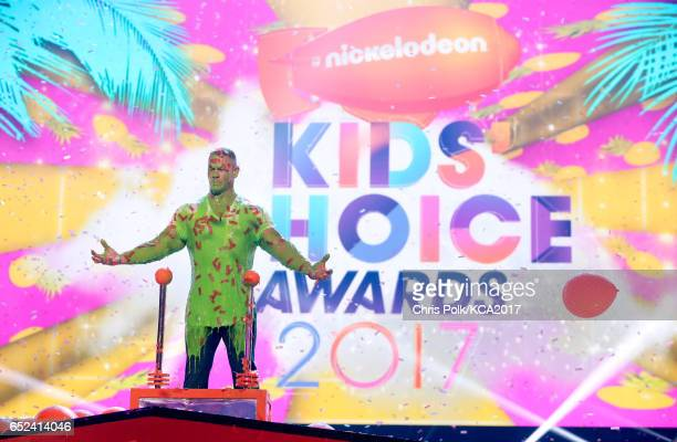 Host John Cena appears onstage at Nickelodeon's 2017 Kids' Choice Awards at USC Galen Center on March 11 2017 in Los Angeles California