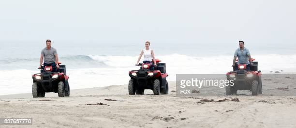 Host / judge Gordon Ramsay judge Christina Tosi and judge Aaron Sanchez in the allnew Feeding The Lifeguards episode of MASTERCHEF airing Wednesday...