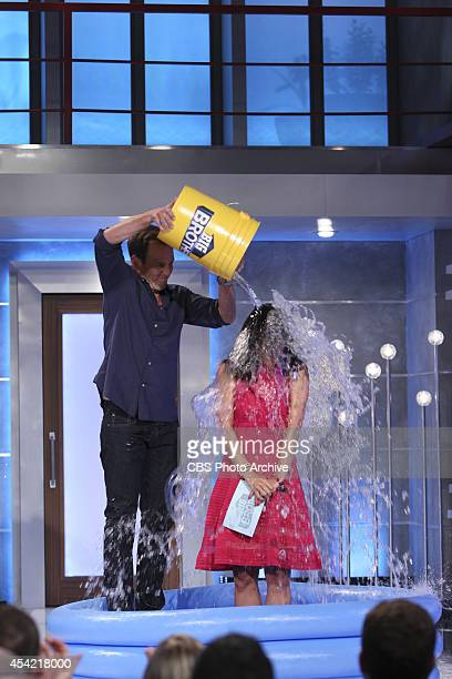 Host Julie Chen accepts the ALS Ice Bucket Challenge with the help of Will Arnett from CBS' THE MILLERS on BIG BROTHER Thursday August 21 on the CBS...