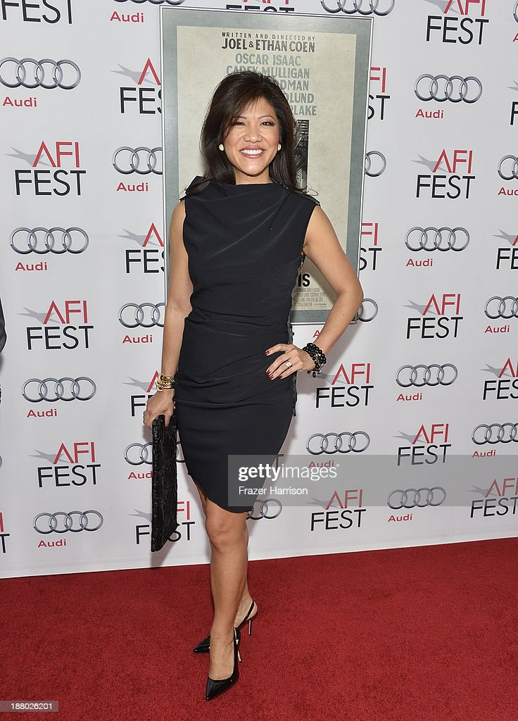 Host <a gi-track='captionPersonalityLinkClicked' href=/galleries/search?phrase=Julie+Chen&family=editorial&specificpeople=206213 ng-click='$event.stopPropagation()'>Julie Chen</a> attends the AFI FEST 2013 presented by Audi closing night gala screening of 'Inside Llewyn Davis' at TCL Chinese Theatre on November 14, 2013 in Hollywood, California.
