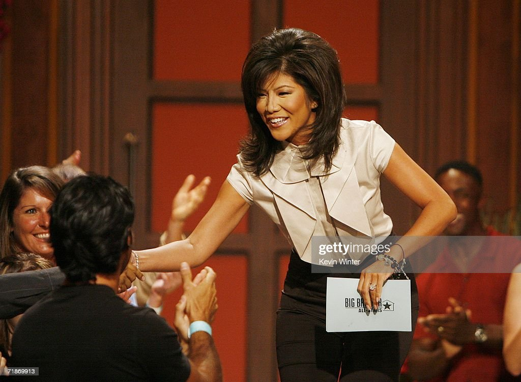 Host Julie Chen greets the audience at 'Big Brother 7 AllStars' at CBS Radford on September 12 2006 in Los Angeles California