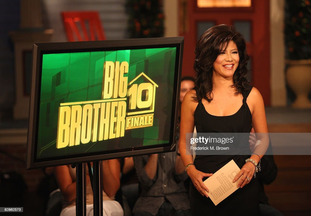 Host Julie Chen speaks during the 'Big Brother Season 10 Grand Finale' at CBS Radford Studios on September 16 2008 in Los Angeles California