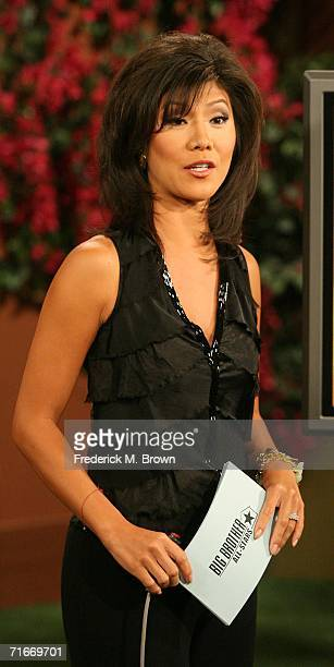 Host Julie Chen speaks during the television show in which contestant Marcellas Reynolds the celebrity stylist originally from Chicago Illinois and...