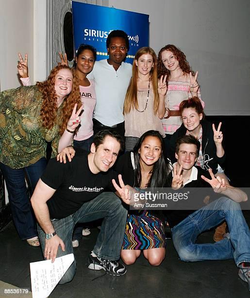 Host Julie James cast members Nicole Lewis Ato BlanksonWood Casey Levy Megan Reinking host Seth Rudeski Kaitlyn Kiyan Gavin Creel and Allison Case...