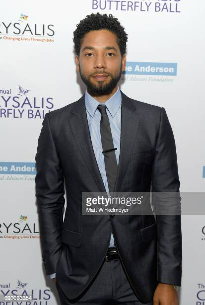 Host Jussie Smollett at the 16th Annual Chrysalis Butterfly Ball on June 3 2017 in Los Angeles California