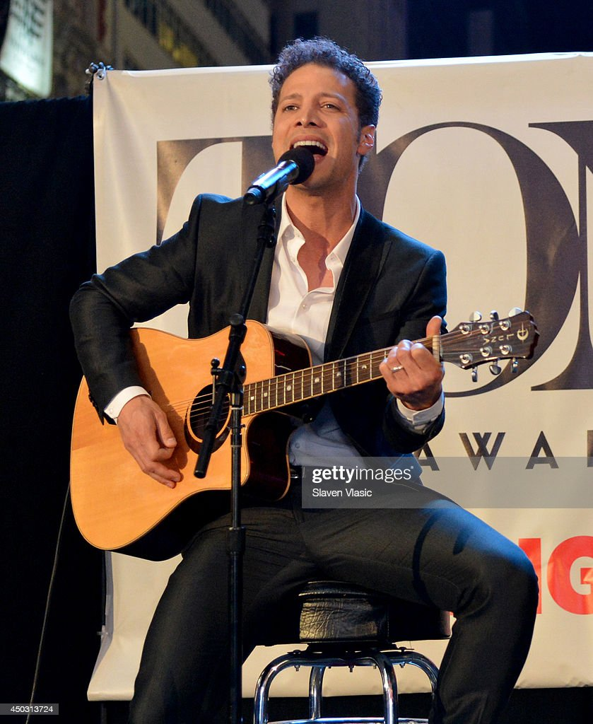 Host Justin Guarini performs onstage during the 68th Annual Tony Awards Times Square Simulcast at Times Square on June 8 2014 in New York City