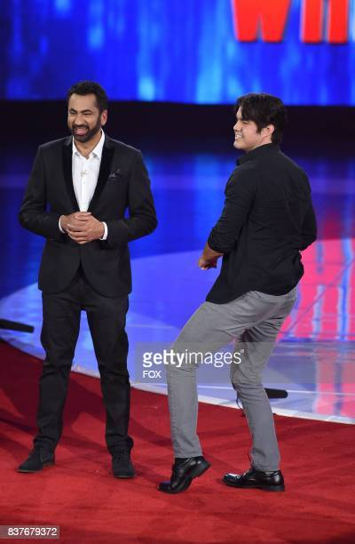 Host Kal Penn and contestant Jared Hughes in the allnew Powers of Deduction episode of SUPERHUMAN airing Monday July 24 on FOX