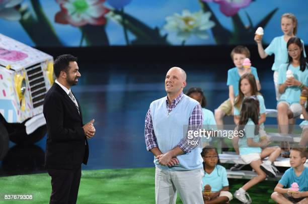 Host Kal Penn and contestant Jonathan Matte in the No Task Too Tall episode of SUPERHUMAN airing Monday July 17 on FOX