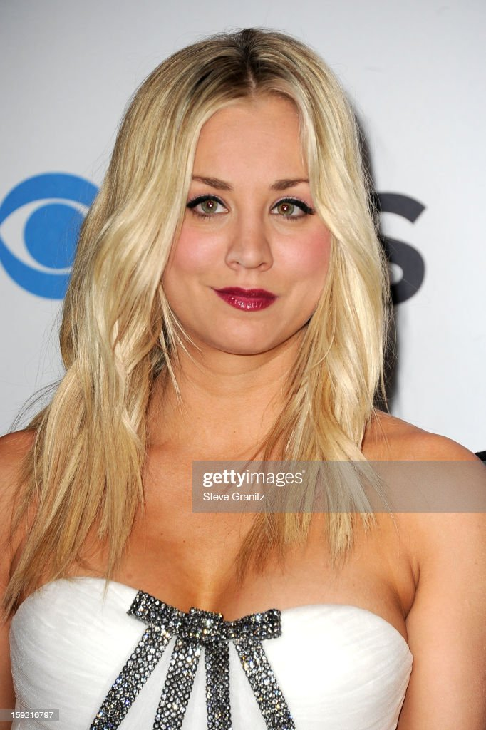 Host <a gi-track='captionPersonalityLinkClicked' href=/galleries/search?phrase=Kaley+Cuoco&family=editorial&specificpeople=208988 ng-click='$event.stopPropagation()'>Kaley Cuoco</a> onstage during the 2013 People's Choice Awards at Nokia Theatre L.A. Live on January 9, 2013 in Los Angeles, California.