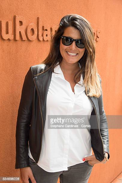Host Karine Ferri attends day six of the 2016 French Open at Roland Garros on May 27 2016 in Paris France