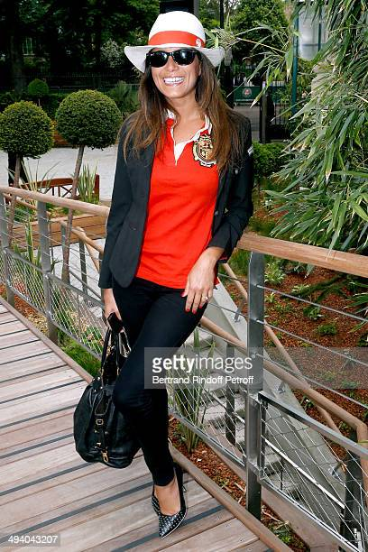 TV host Karine Ferry attends the Roland Garros French Tennis Open 2014 Day 3 on May 27 2014 in Paris France