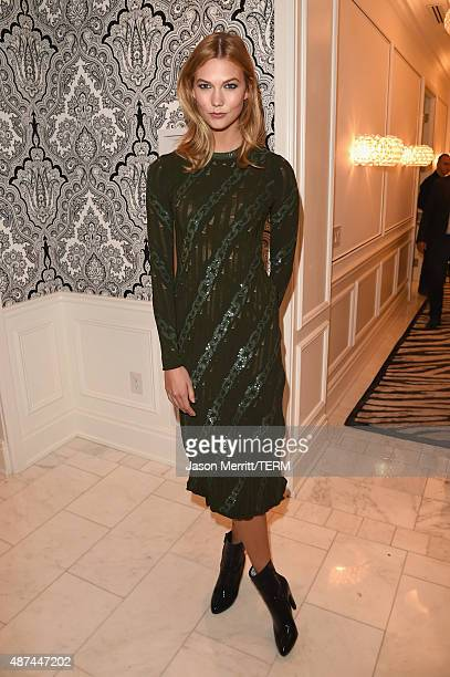 Host Karlie Kloss attends the L'Oreal Paris TIFF kickoff VIP cocktail reception at Trump International Hotel Tower on September 9 2015 in Toronto...