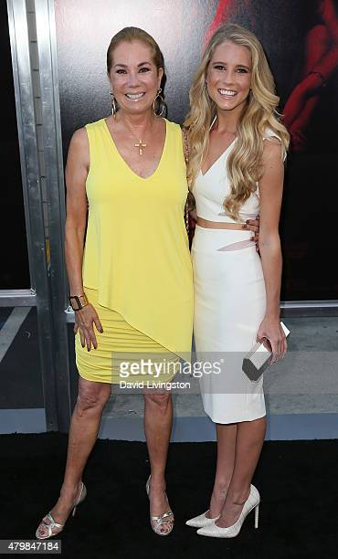 TV host Kathie Lee Gifford and daughter actress Cassidy Gifford attend the premiere of New Line Cinema's 'The Gallows' at Hollywood High School on...