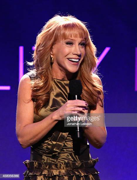 Host Kathy Griffin speaks onstage during The Equality Now's 'Make Equality Reality' Event at Montage Beverly Hills on November 3 2014 in Beverly...