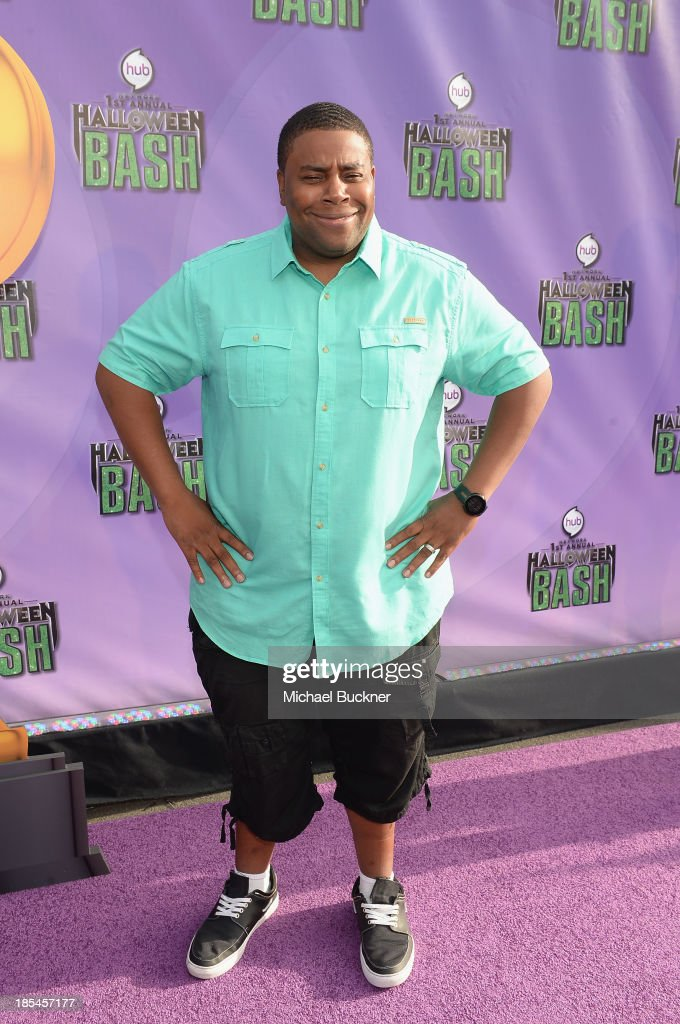 Host Keenan Thompson arrives at Hub Network's First Annual Halloween Bash at Barker Hangar on October 20, 2013 in Santa Monica, California.