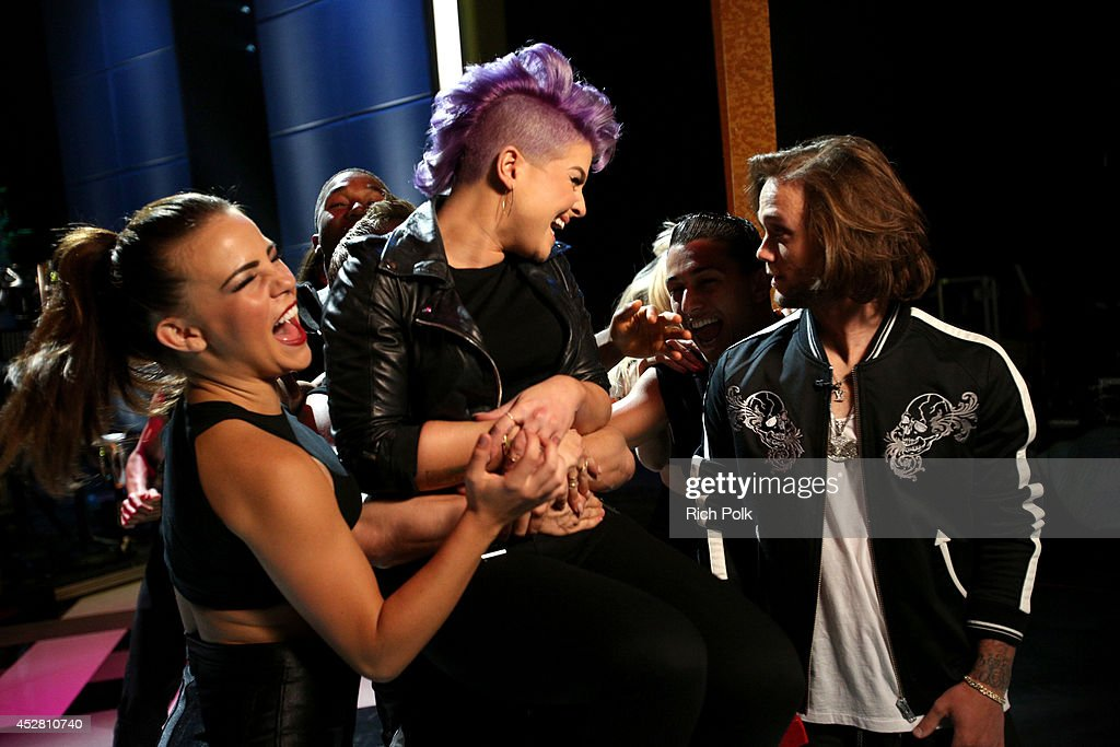 Host Kelly Osbourne and professional snowboarder Louie Vito backstage at the 2014 Young Hollywood Awards brought to you by Samsung Galaxy at The...