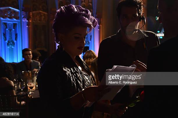 Host Kelly Osbourne in the audience at the 2014 Young Hollywood Awards brought to you by Samsung Galaxy at The Wiltern on July 27 2014 in Los Angeles...
