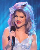 Host Kelly Osbourne speaks onstage at Logo's 'NewNowNext Awards' 2012 at Avalon on April 5 2012 in Hollywood California