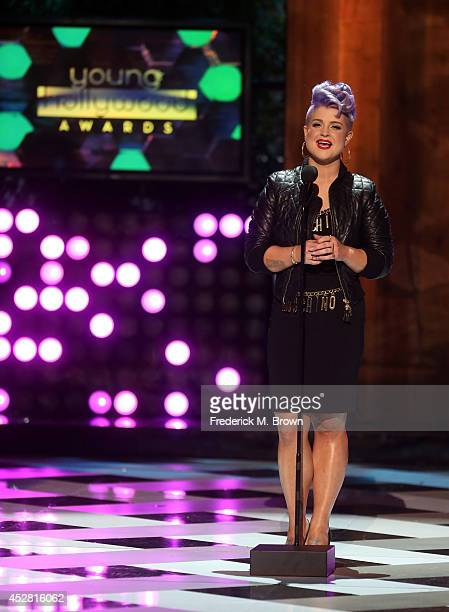 Host Kelly Osbourne speaks onstage at the 2014 Young Hollywood Awards brought to you by Samsung Galaxy at The Wiltern on July 27 2014 in Los Angeles...