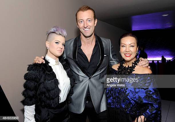 Host Kelly Osbourne TV presenter Prince MarioMax SchaumburgLippe and fashion designer Sue Wong attend the 4th Annual NYX FACE Awards at Club Nokia on...