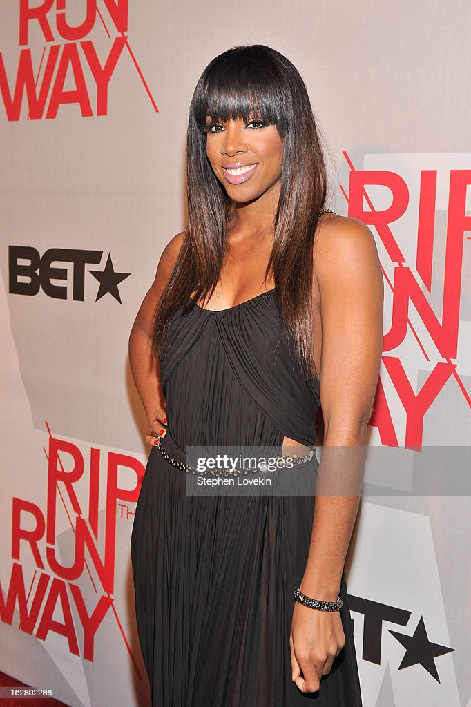 Host Kelly Rowland attends BET's Rip The Runway 2013:Red Carpet at Hammerstein Ballroom on February 27, 2013 in New York City.