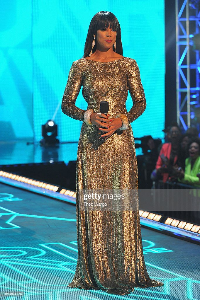Host Kelly Rowland on stage BET's Rip The Runway 2013:Show at Hammerstein Ballroom on February 27, 2013 in New York City.