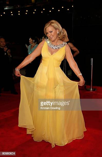 TV host KerriAnne Kennerley arrives on the red carpet at the 50th Annual TV Week Logie Awards at the Crown Towers Hotel and Casino on May 4 2008 in...