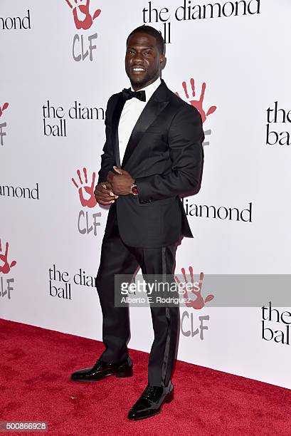 Host Kevin Hart attends the 2nd Annual Diamond Ball hosted by Rihanna and The Clara Lionel Foundation at The Barker Hanger on December 10 2015 in...